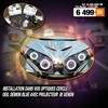 Kit à 4 projecteur HID Bi-Xenon avec Cercle LED Blanc et Blue Deamon eyes